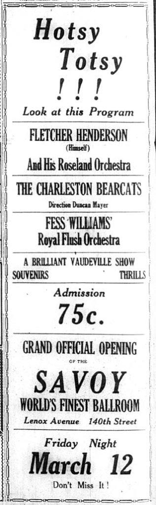 Advertisement in the New York Age, Saturday 13th March 1926