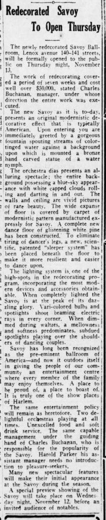 The New York Age - Sat 15 Nov 1930